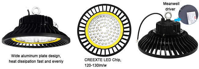 Super Bright 120w Exterior UFO LED High Bay Light Replace Metal Halide Lamp
