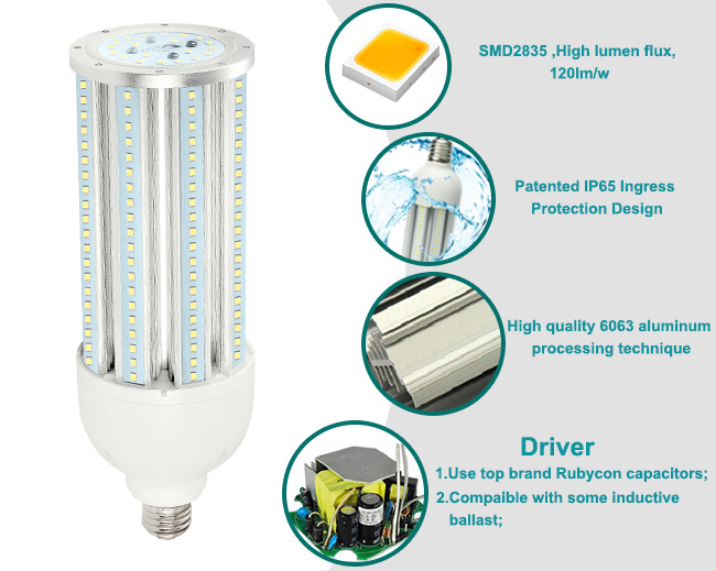 IP65 Led 360 Degree Light Bulbs High Power 54w 60w E40 Led Street Lamp With Ul