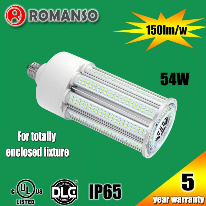54W 8100Lm 6000K Waterproof E40 LED Corn Light For Enclosed Fixture , AC100-300V