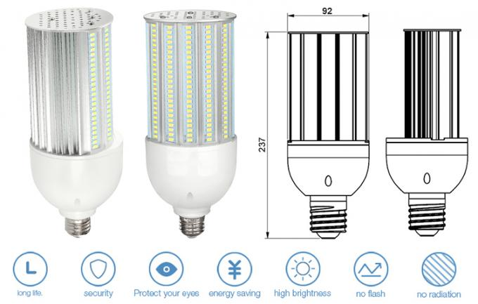 180 Degree Led Corn Bulb E27 36w / Street Lighting Retrofit 120Lm/W For Outdoor