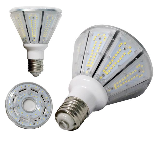 Metal Halide 360 Degree LED Bulb 50W , Pyramid Shaped Led Corn Light Bulb
