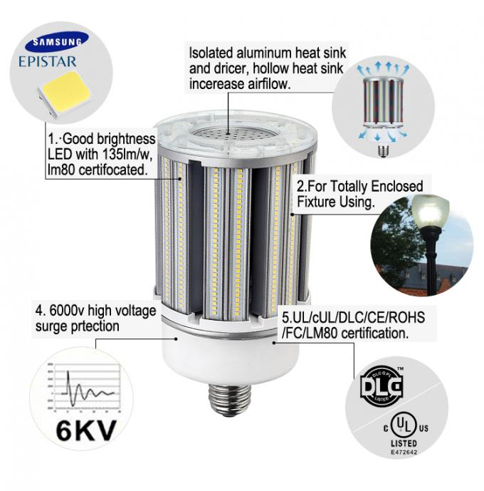 High Powerful SMD2835 SamSung Cob Led Light Bulbs 120w with Cover Replacing 400W CFL