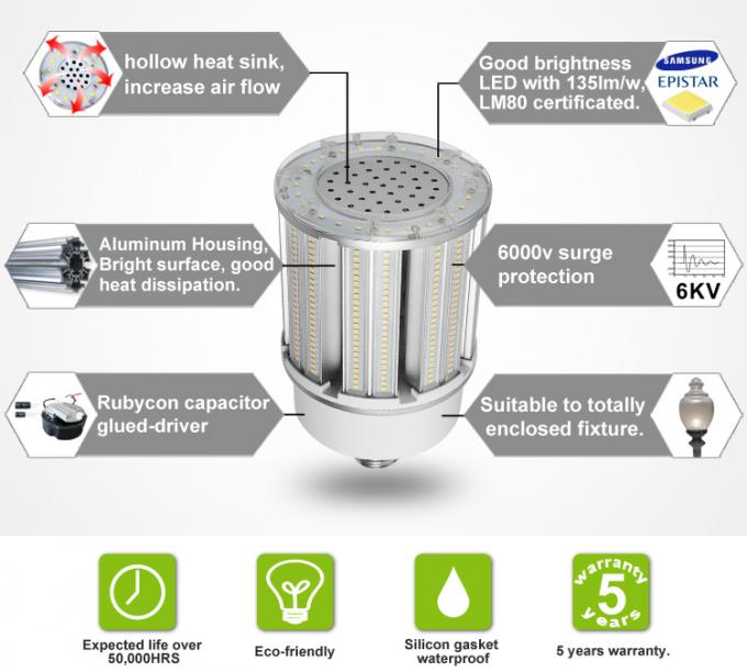 120w Corn Led Light Bulbs Cool White HPS Replacement UL 100-277v