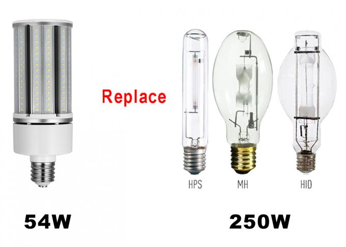 UL CUL Certificated Led Pole Light Retrofit 3000K - 6000K 54W 5940LM LED Corn Light