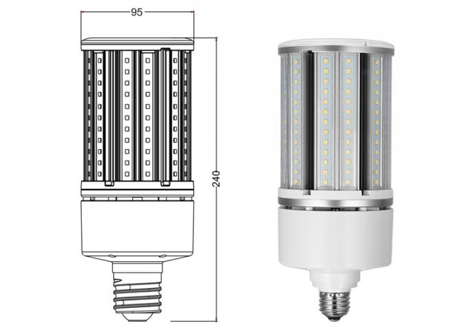 High output lumen SMD 2835 e27 led corn light bulb 45W , led post top retrofit lamp