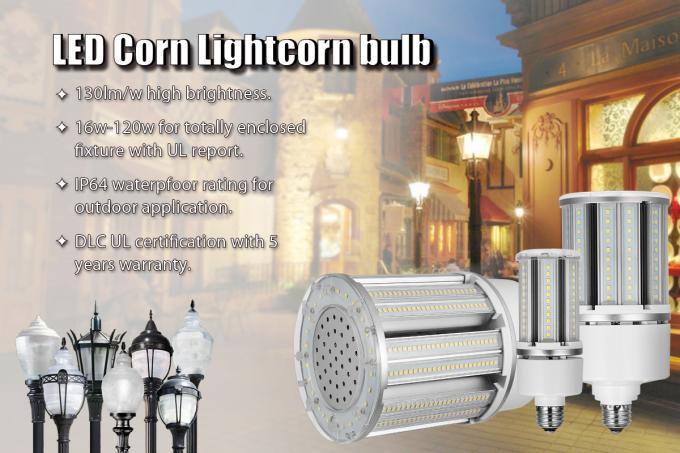 UL Approved LED Corn Light Bulb 220V for Post Top Light / High Bay Lighting