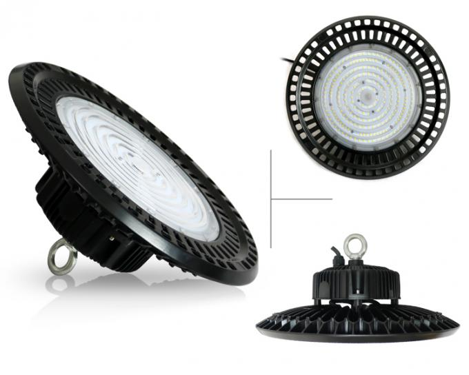 Efficiency fluorescent UFO Led High Bay light fixtures with tempered glass cover
