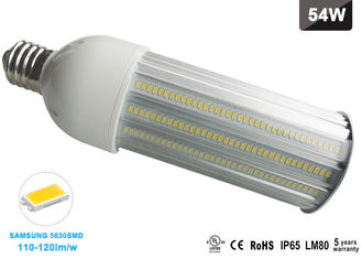 China AC85-265V 180 Degree 120lm/w LED Corn COB Bulb E40 LED Street and Area Lighting 54 Watt supplier