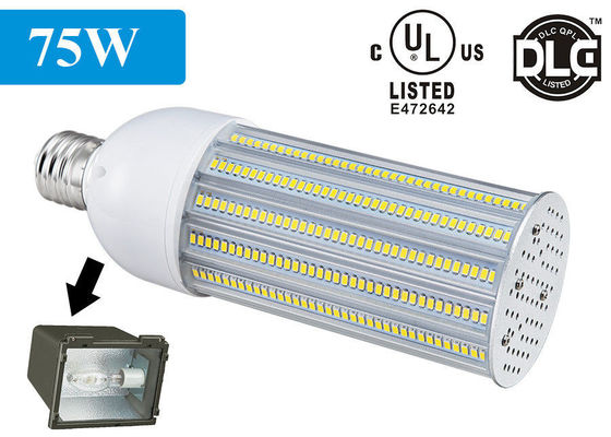 China 110-120lm / w 180 Degree DLC LED Corn Light E27 E40 75W energy saving supplier