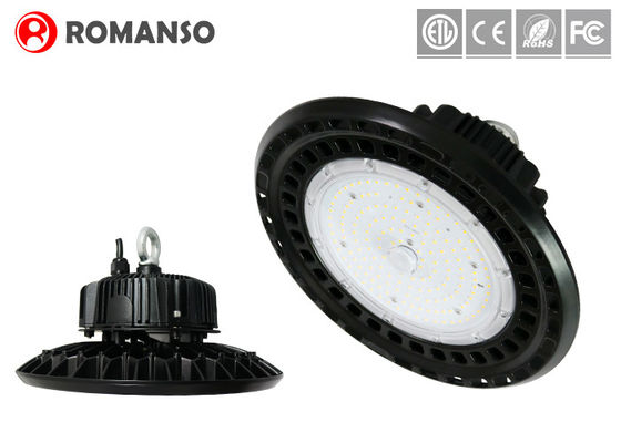 China Efficiency fluorescent UFO Led High Bay light fixtures with tempered glass cover supplier