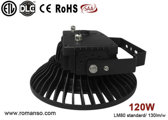 China AC100V UFO led high bay lamp , Outdoor 120W led high bay lights pf >0.95 distributor