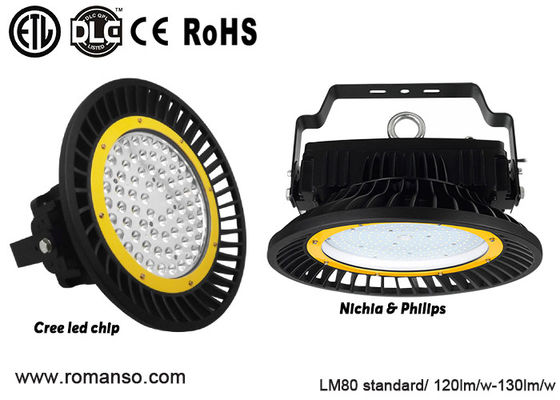 China AC100-277V UFO Led High Bay 120W 150W , factory warehouse fluorescent high bay fixtures distributor