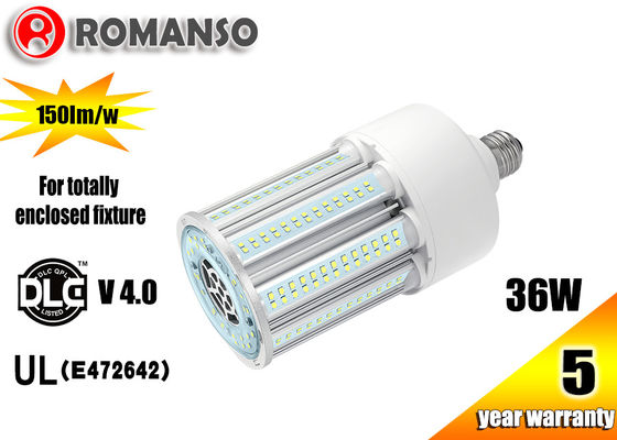 China 360 Degree Ul Dlc Led Corn Bulb For Retrofit HID Post Top Lamp 36w 45w , Long Lifespan distributor